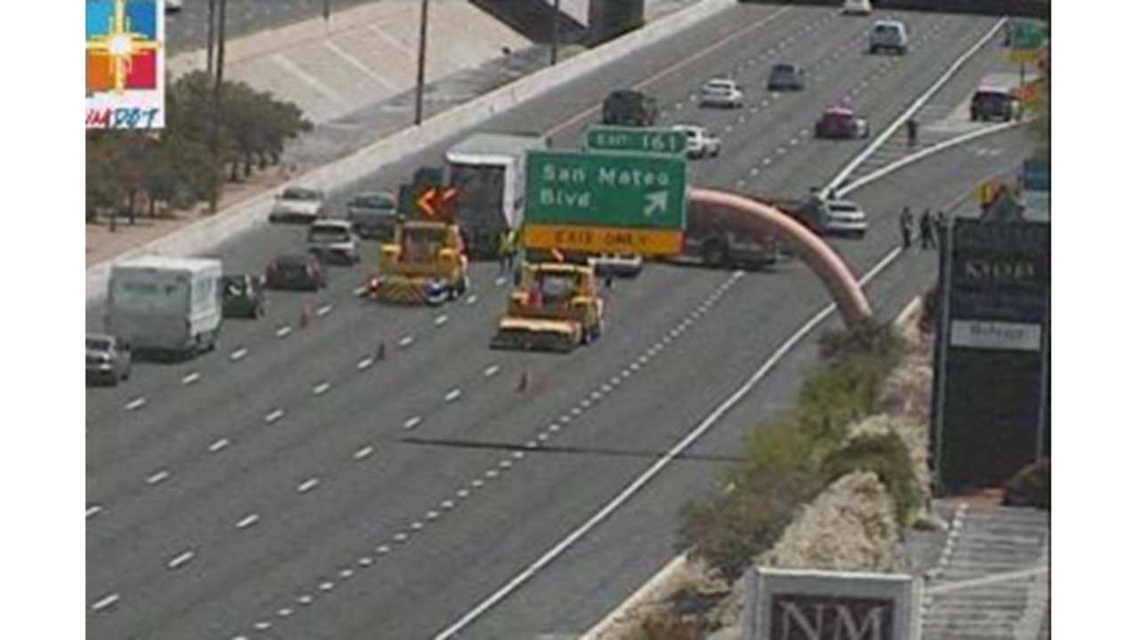 All lanes reopened on eastbound I-40 at San Mateo