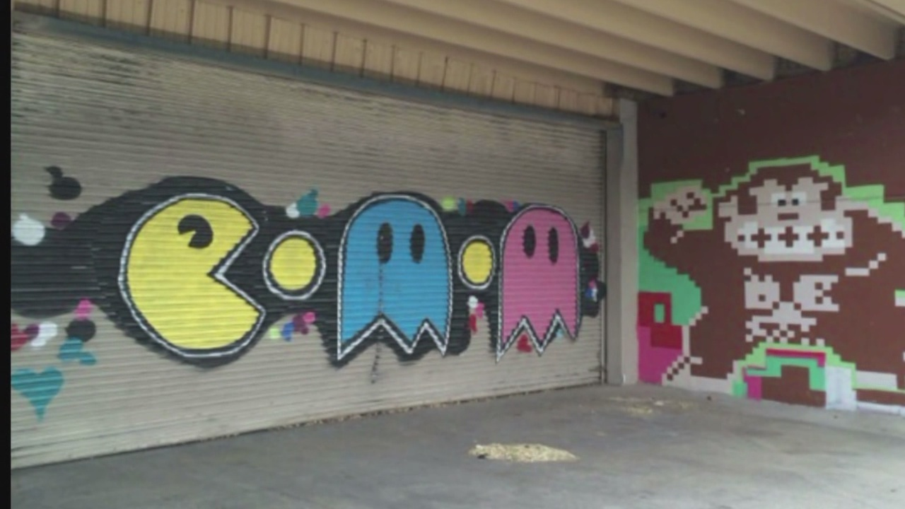 Iconic Albuquerque Pac Man Mural Tagged Over With Graffiti