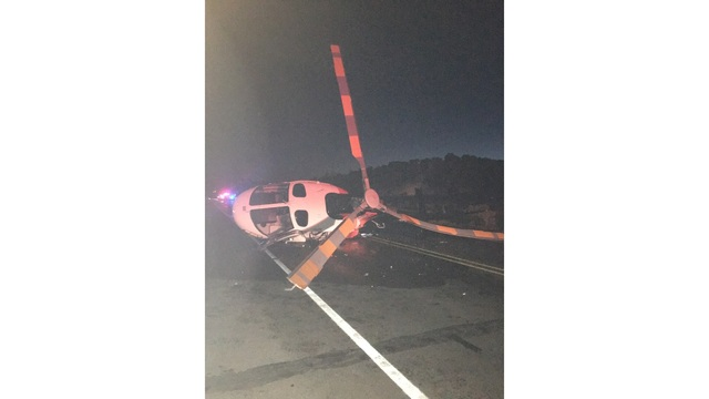 Suspected drunk driver crashes into fire truck, medical helicopter