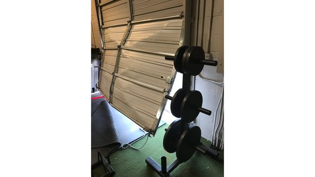 Thieves drive vehicle into garage of Albuquerque gym