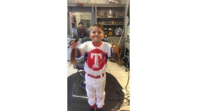 Hobbs boy donates hair to kids with cancer