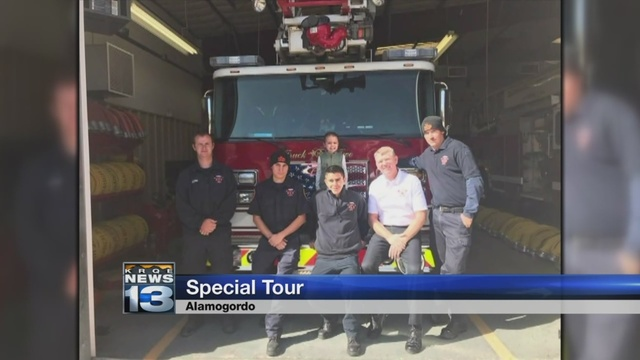 3-year-old girl gets special tour of Alamogordo fire station