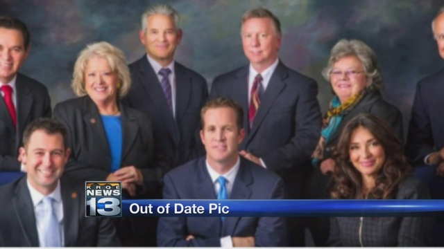 City website features outdated city council photo