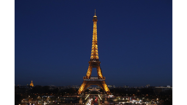 France's Eiffel Tower lights up for women's rights