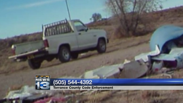Torrance County Deputies search for illegal trash dumping suspect