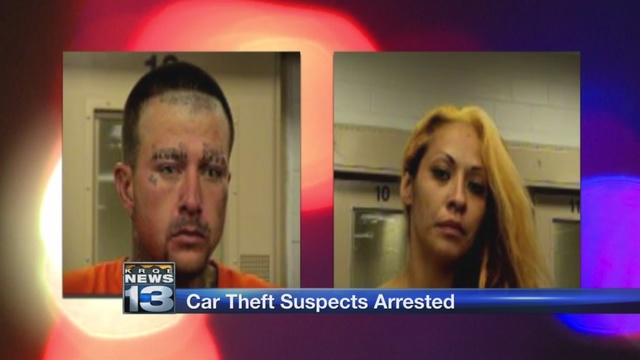 Car theft suspects arrested after car chase