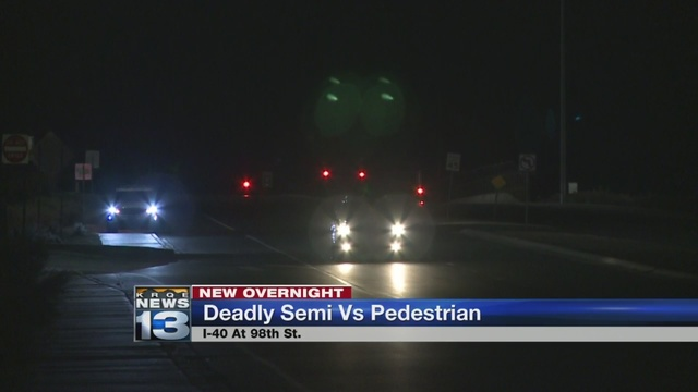 I-40 reopen after deadly pedestrian accident involving semi-truck