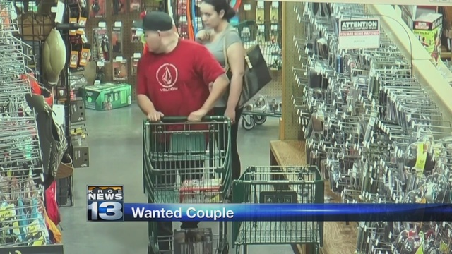 Police: Couple wanted for shoplifting at Sportsman's Warehouse