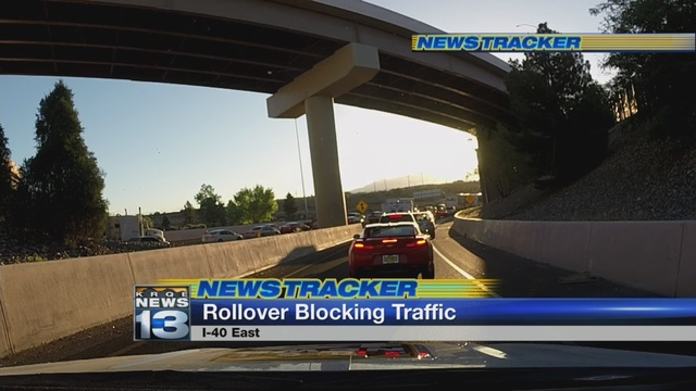 Rollover accident cleared at I-40 and Rio Grande