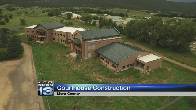 Construction resumes on controversial Mora County courthouse