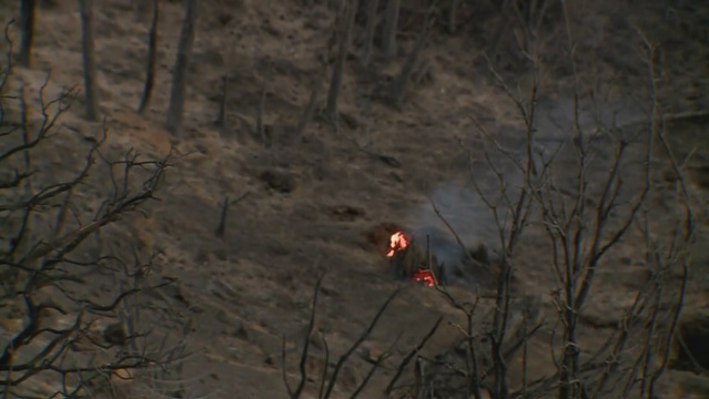 Lightning-caused fire burns west of Roy