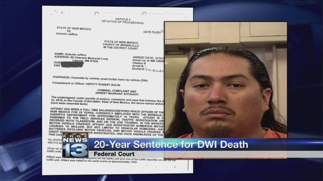 Man sentenced to 20 years for drunk driving crash