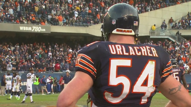 971afe66bad Brian Urlacher drafted to Chicago Bears