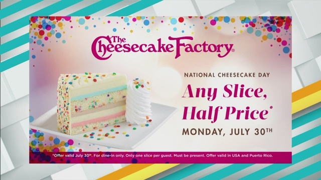 Cheesecake Factory Offers Slices At Half Price July 30th