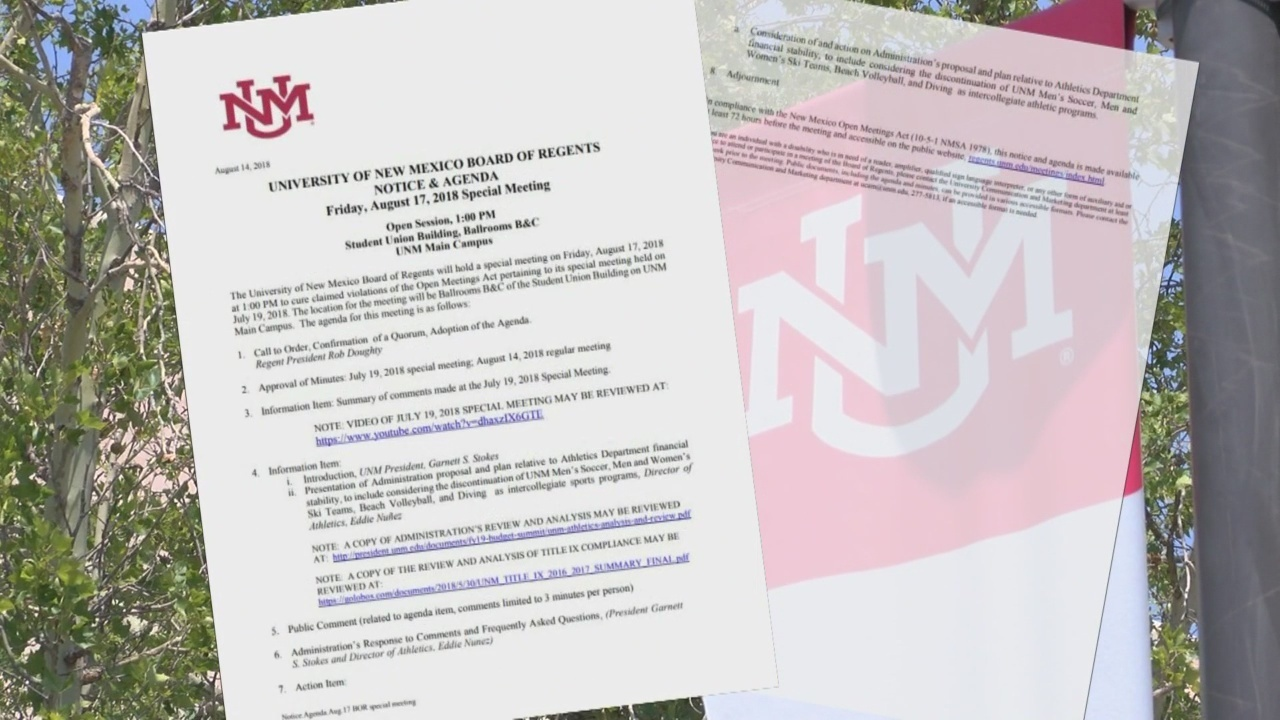 UNM gets specific on upcoming sports meeting agenda
