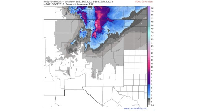 Weather Map Of New Mexico.Winter Weather Makes Its Way Into New Mexico
