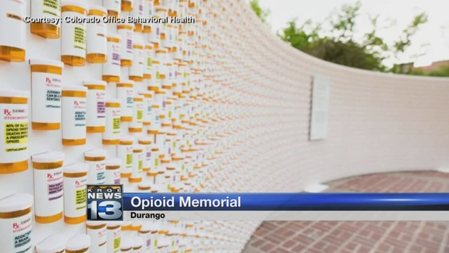 Pill bottle wall honors lives lost to opioid overdoses