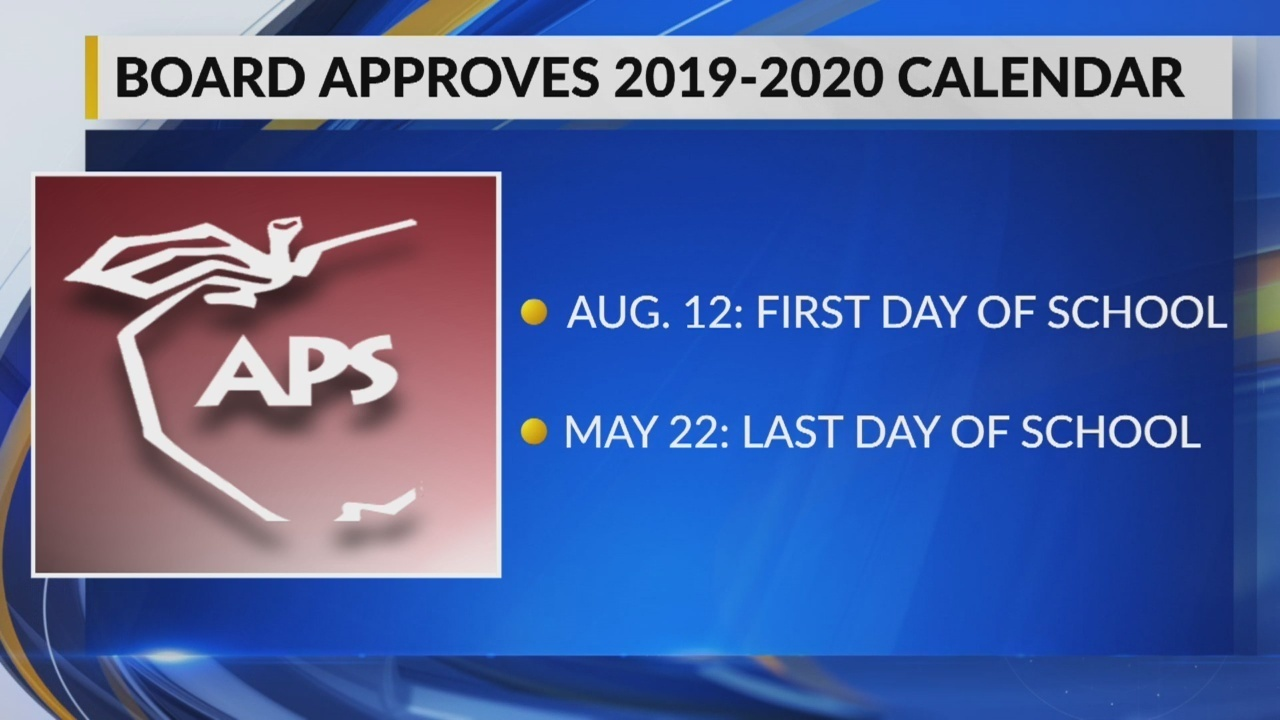 Aps Approves Calendar For 2019 2020 School Year