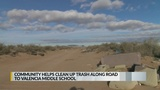 Littered road leading to New Mexico school finally cleaned up